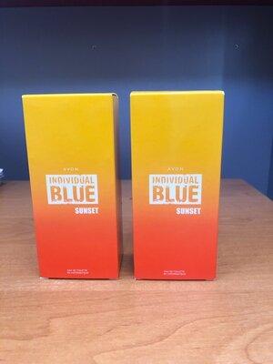 -50% Мужская туалетная вода Avon Individual Blue Sunset блу эйвон ейвон