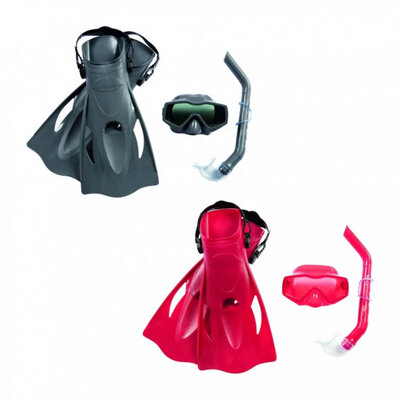 Набор для плавания Bestway 25031 , маска , трубка , ласты , размер 41-46