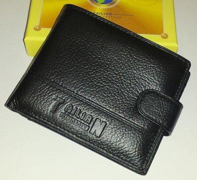Мужской кошелёк из натуральной кожи Tailian T120D-12P14-B