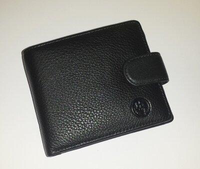 Мужской кошелёк HT208-0613 из натуральной кожи с зажимом для купюр