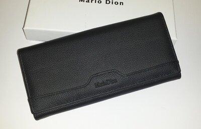 Женский кожаный кошелёк Mario Dion Black