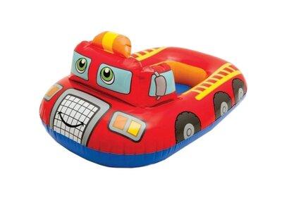 Детский надувной круг-плотик intex пожарная машина