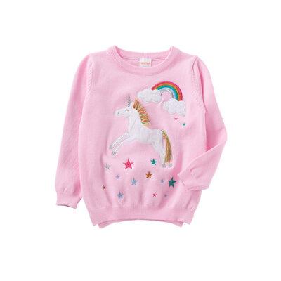Продано: Свитер для девочки Единорог и радуга