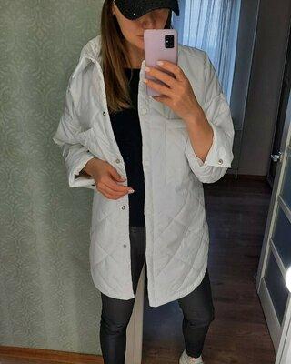 Продано: Демисезонная куртка пальто стеганное в стиле zara