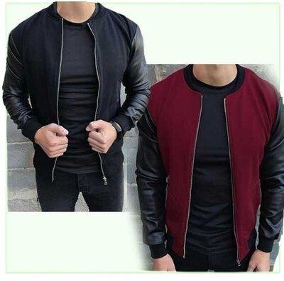 Продано: Куртка мужская , бомбер мужской с рукавами из эко-кожи