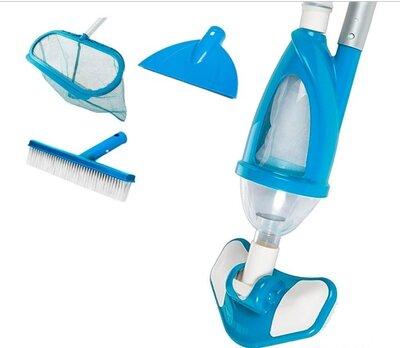 Набор для чистки бассейна пылесос, сачок,щетка, телескоп ручка
