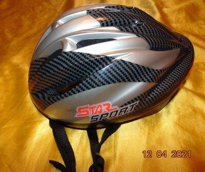 Спортивний фирменний защитний вело шлем каска star sport.л-хл .56-58