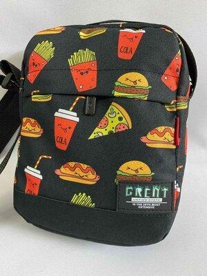 Барсетка с яркими принтами, сумка через плечо, барсетка для подростков, модная сумка, стильная сумка