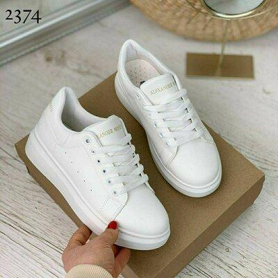 Кеды кроссовки криперы женские белые