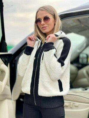 Стильная женская альпако.Худди.Куртка