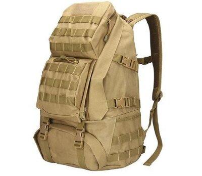 Рюкзак тактический B35 50 л, песочный. Рюкзаки в ассортименте