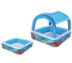 Детский надувной бассейн Bestway 52192 с навесом размер 140х40х114 см