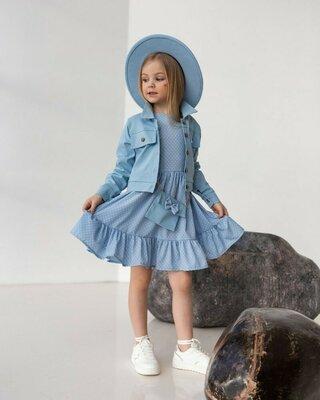 Костюм для девочки платье пиджак сумочка