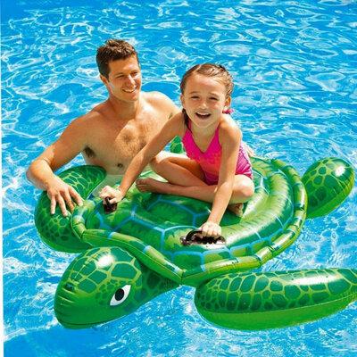Детский надувной плотик для катания Intex 57524 «Черепаха» 150x127