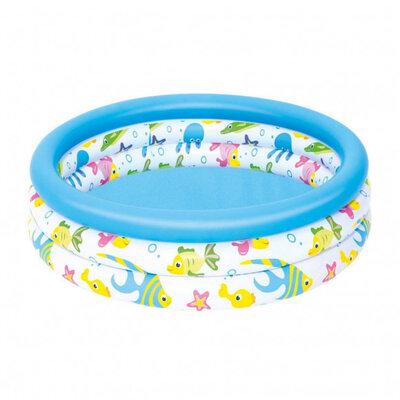 Бассейн детский Intex 51008 круглый, 102-25 см, 3 кольца
