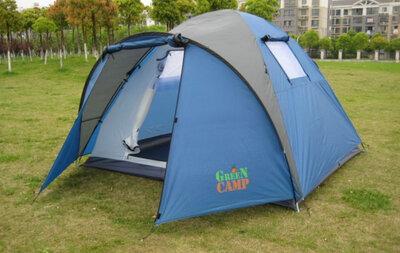 Продано: Четырехместная палатка Green Camp 1004