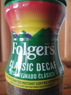 Растворимый кофе Folgers 226g без кофеина, из Америки