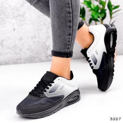 текстильные черные белые омбре кроссовки