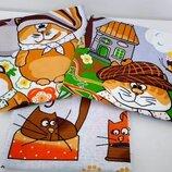 Коты Набор ярких и забавных полотенец из хлопка