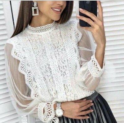 Шикарные кружевные блузки