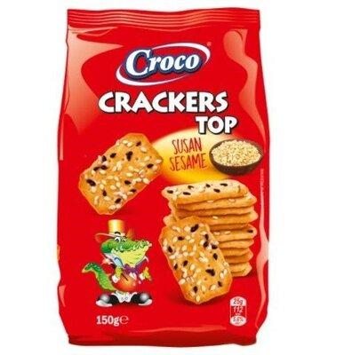 Крекер солоний Croco Crackers 150 г TOP з кунжутом . Румунія