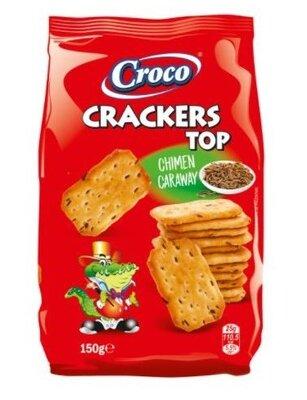 Крекер солоний Croco Crackers TOP з кмином 150г. Румунія