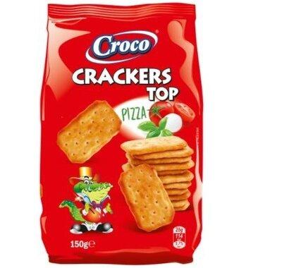 Крекер солений Croco Crackers TOP зі смаком піци 150 г .РУМУНІЯ