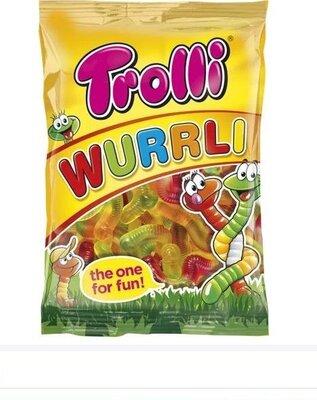 Вкусненькие жеват. конфеты Германия 100 грамм. Червячки. Тролли