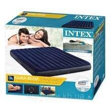 Надувной двухместный матрас Intex 64755, матрас 183 x 203 x 25 см