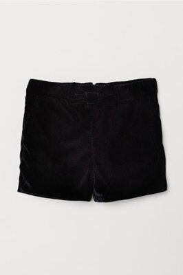 H&M велюровые шорты 116-122 см