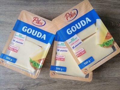 Сыр в пластинках без консервантов Pilos Gouda 300г Польша