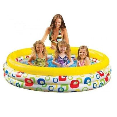 Детский надувной бассейн 58439 с надувным дном