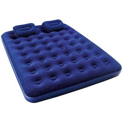 Надувной велюровый матрац BW 67374 с 2мя подушками и насосом