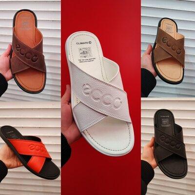 Мужские кожаные шлепанцы тапочки 39-48 размеры