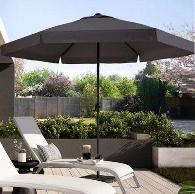 Зонт садовый 3 м диаметр серый/беж/белый, садова парасоля