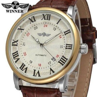 Мужские механические часы Winner Cartier