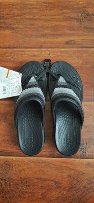 Шлепанцы Crocs Monterey Beaded Stripe W8 Оригинал из Сша