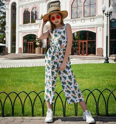 Стильный летний костюм топ кюлоты для девочки