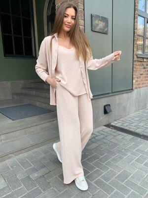 Костюм женский 3-ка Рубашка, штаны, майка лето 2021