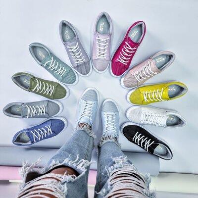 Стильные натуральные кожаные женские летние кроссовки с перфорацией 32,33,34,35,36,37,38,39,40,41