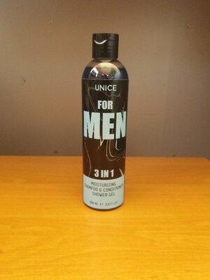 3 в 1 Мужской гель для душа шампунь кондиционер men unice