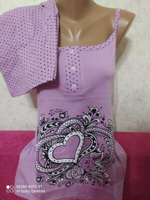 Домашний костюм пижама майка шорты Узбекистан 42,44,46