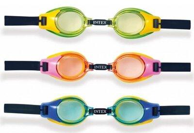 Intex Очки для плавания, на листе, 3-10лет / 19,2-12,5см
