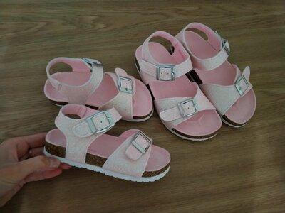 Продано: Босоножки 27-17,0 см 31-19,5смсандалии для девочек девочки розовые розовый нарядные