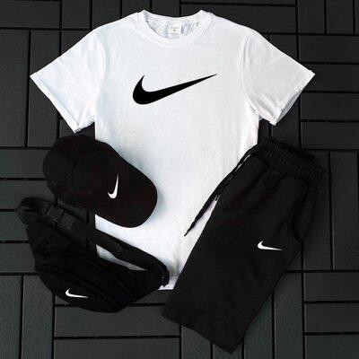 Вместе дешевле Футболка шорты кепка барсетка Nike. Мужской спортивный костюм на лето 2021