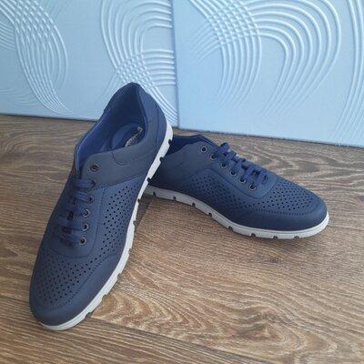 Мужские кроссовки двух видов еко кожа, сеточкаЧоловічі кросівки