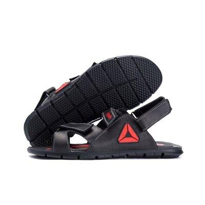 Мужские кожаные сандалии Reebok NS black red