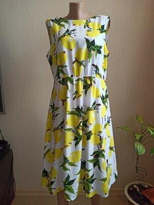 Платье в лимонах