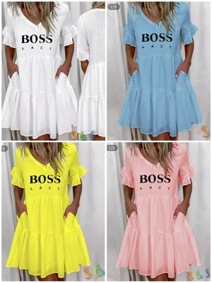 Платье Lady Boss 4 цвета 42 - 54