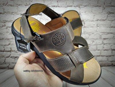 Мужские кожаные шлепанцы/сандалии . Лучшая цена